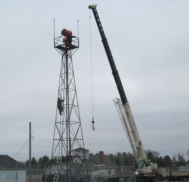 Shawano Beacon Tower Transplant To Iola